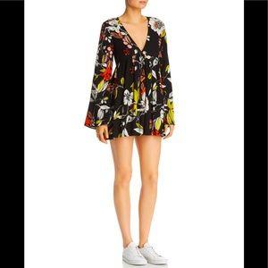 Free People Bella Floral-Print Tunic Mini Dress L